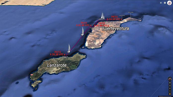 LUAR 040 TRACK da Lanzarote a Fuerteventura