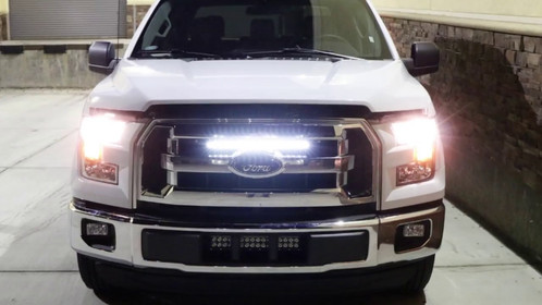 F 150 behind grille led light bar unleash the ford truck module f 150 behind grille led light bar mozeypictures Gallery
