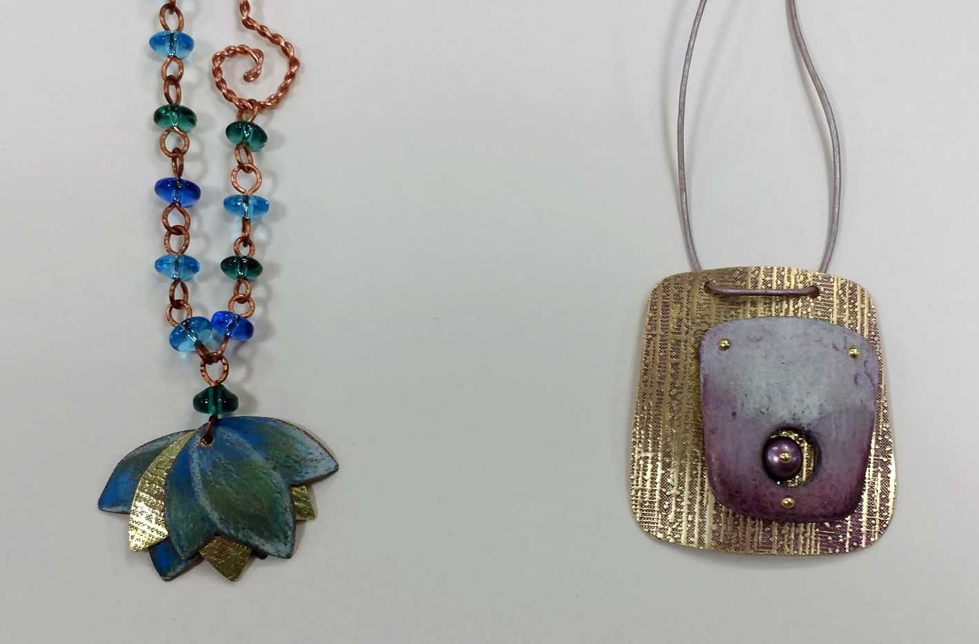 Samples of color pencil on metal by Angi