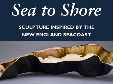 """Sculptures exhibited at """"Sea to Shore: Sculpture Inspired by the New England Seacoast,"""""""