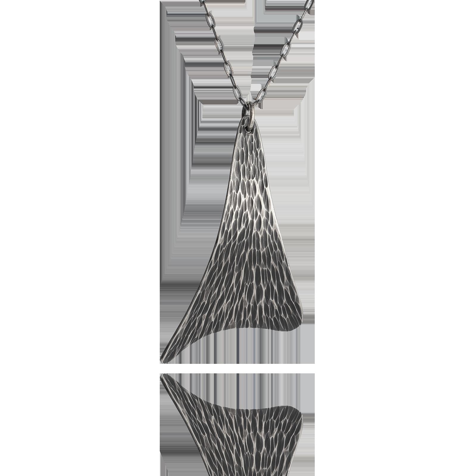 Sail Pendant - Dark Silver