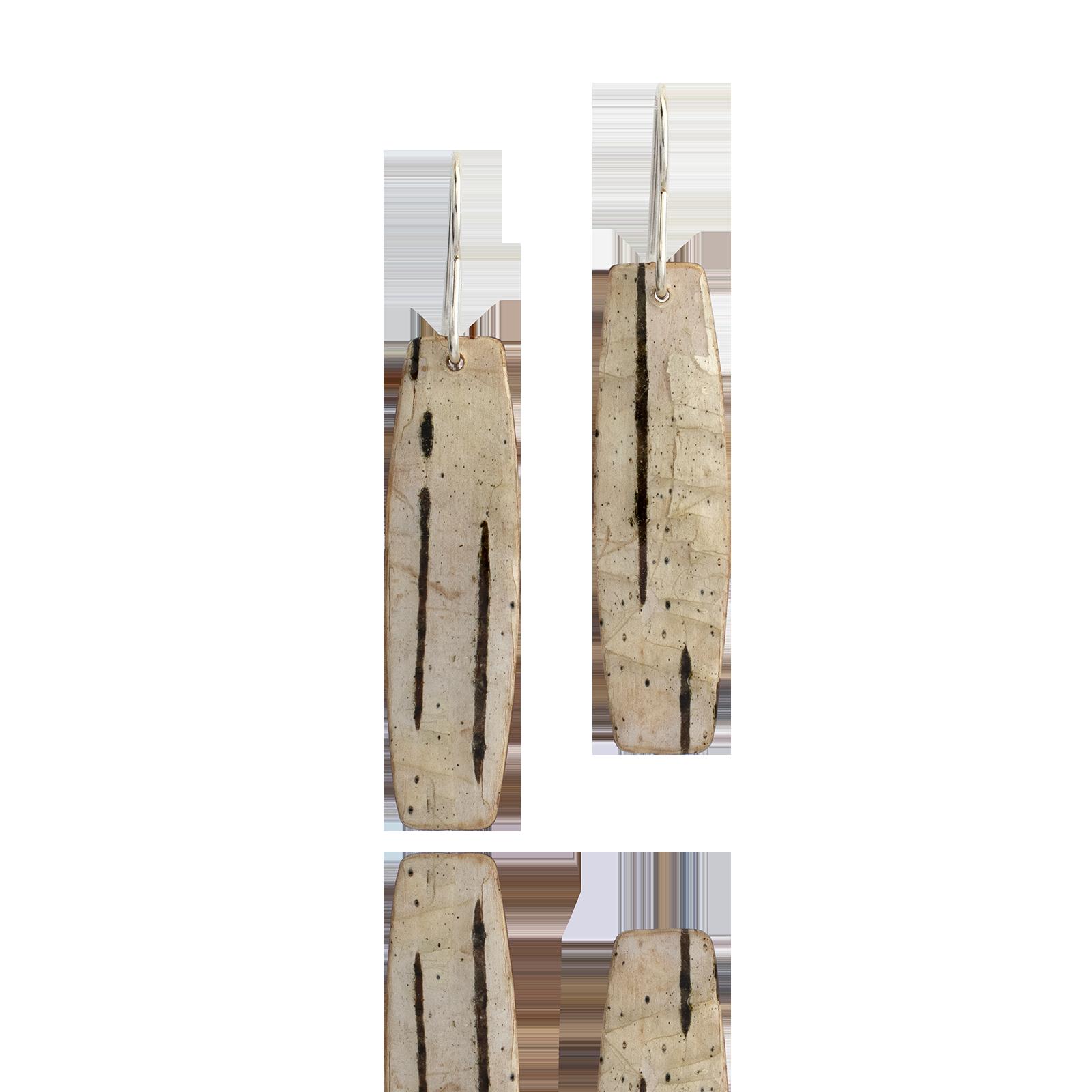 Birch Bark Dangles - Rectangle