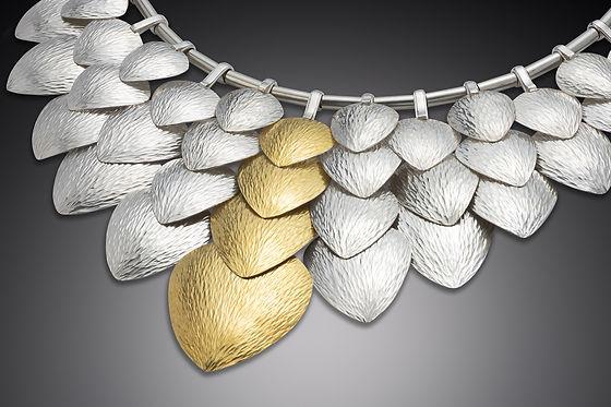 Pangolin scale one of a kind neckpiece
