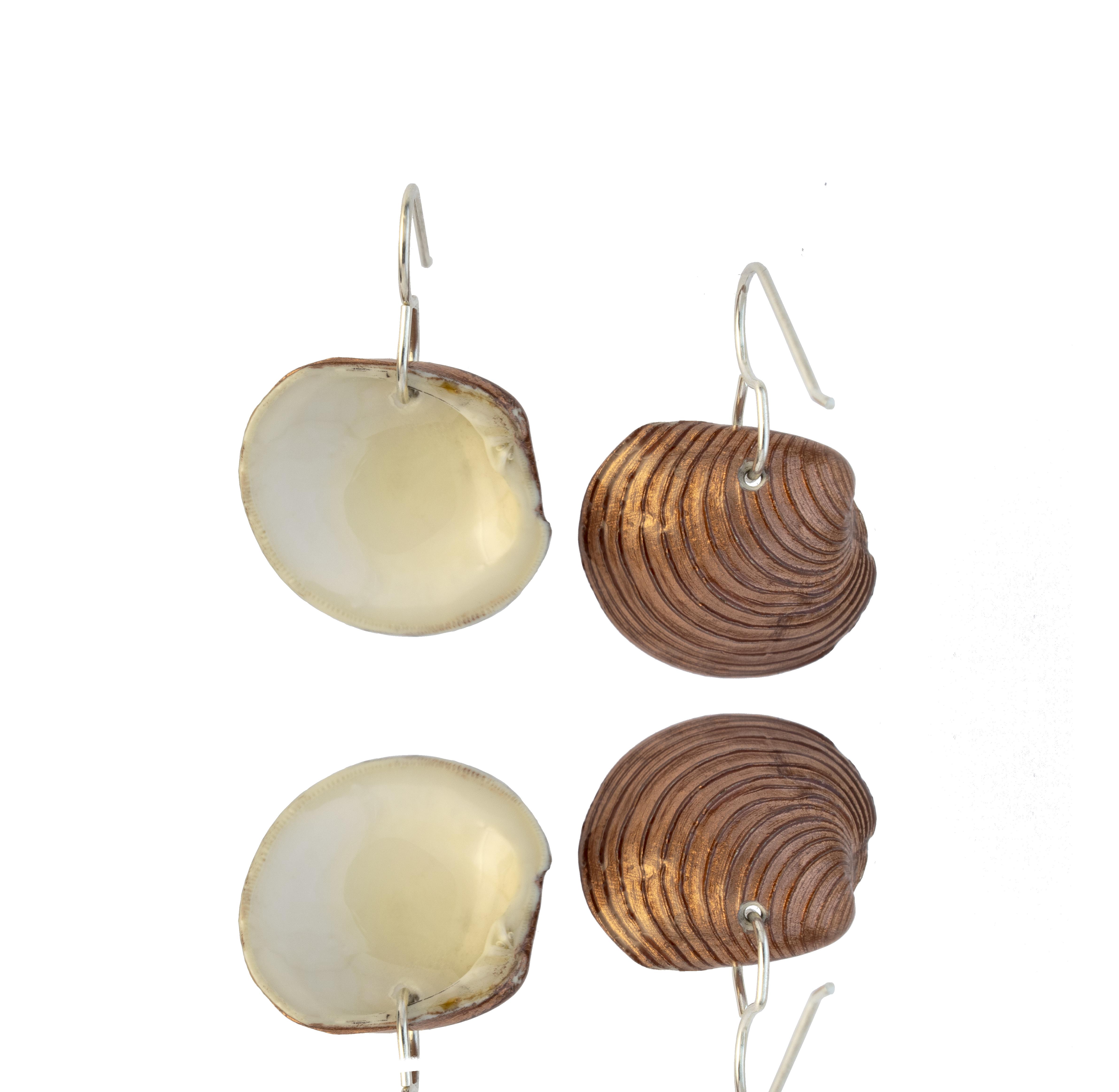 Clam Dangles Copper Backs