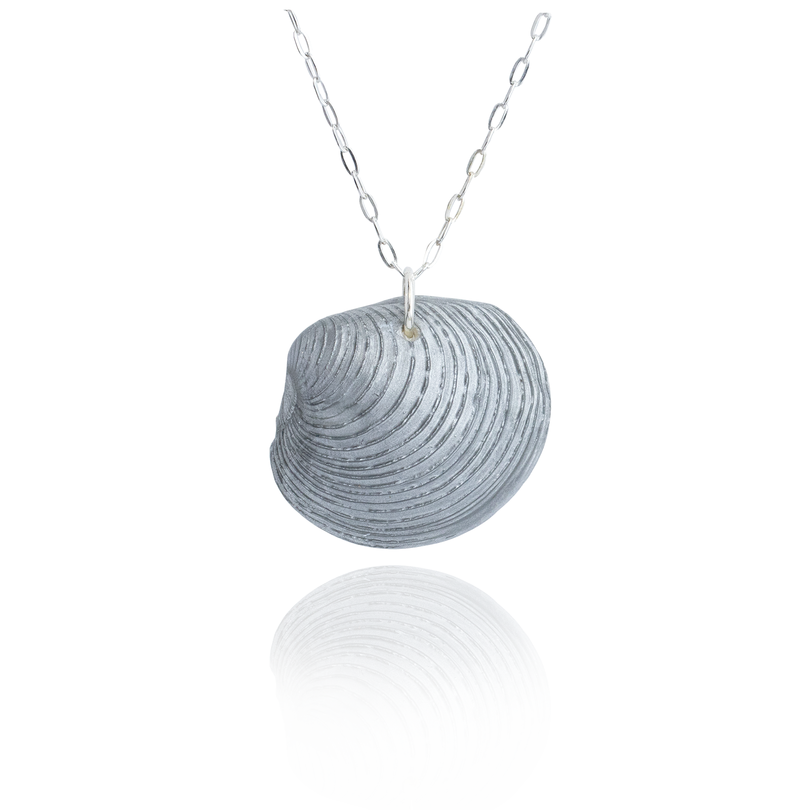 Clam Pendant - silver back