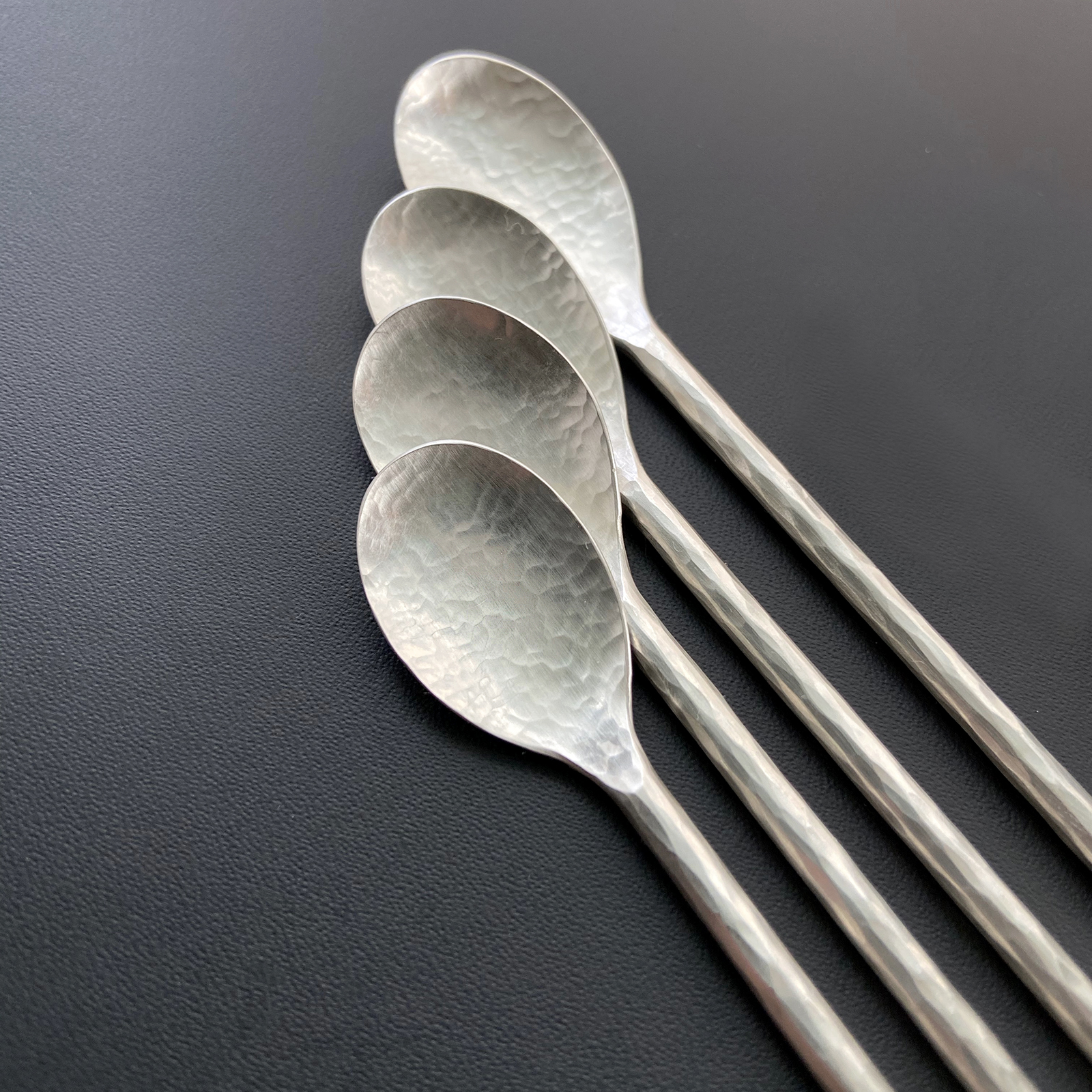 silver cocktail stirrer spoon