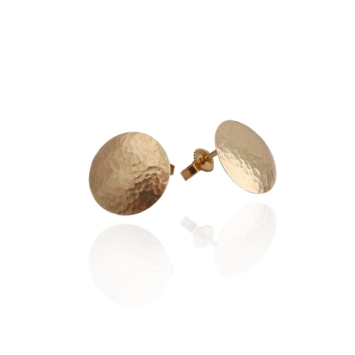 14k Gold Dome Studs