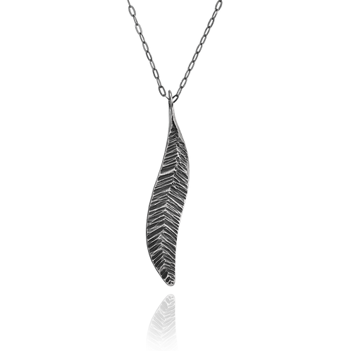 Forged Feather Pendant