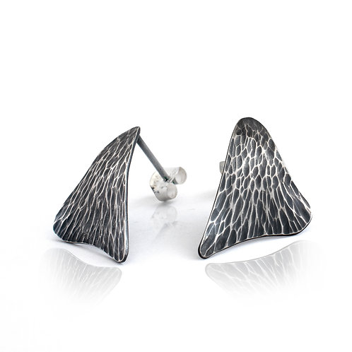 Forged Sail Stud Earrings