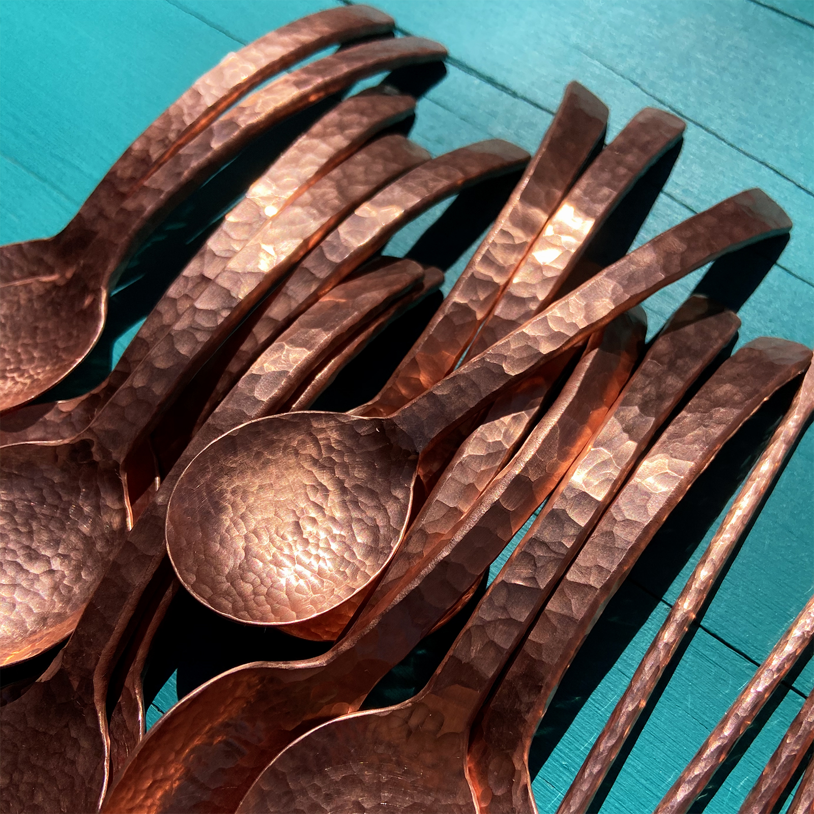 Copper Sugar Spoons