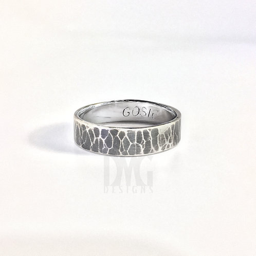 Custom Text Forged Ring