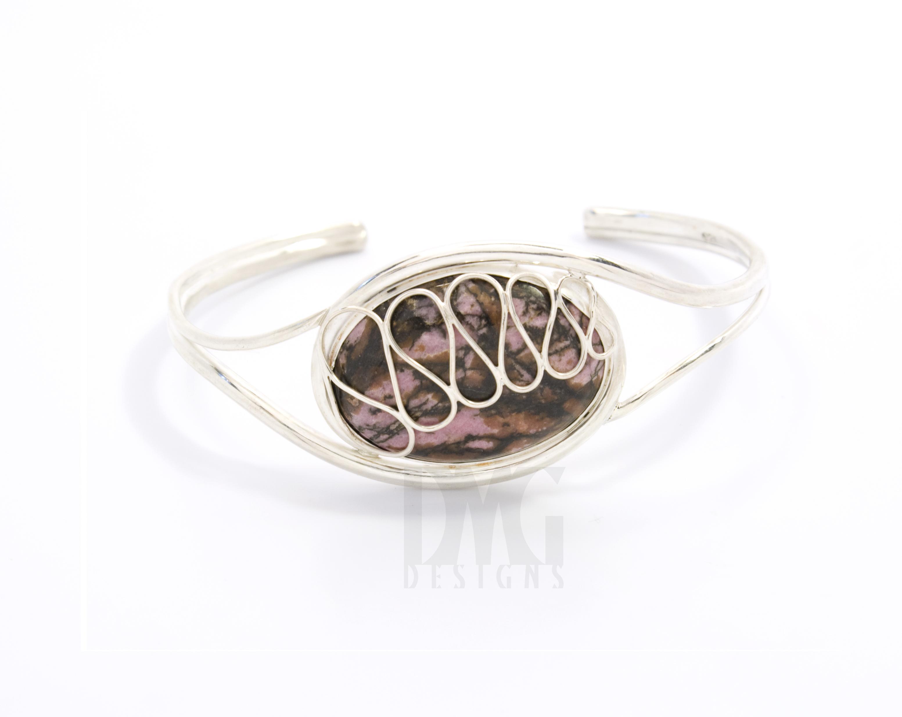 Rhodonite Cuff Bracelet