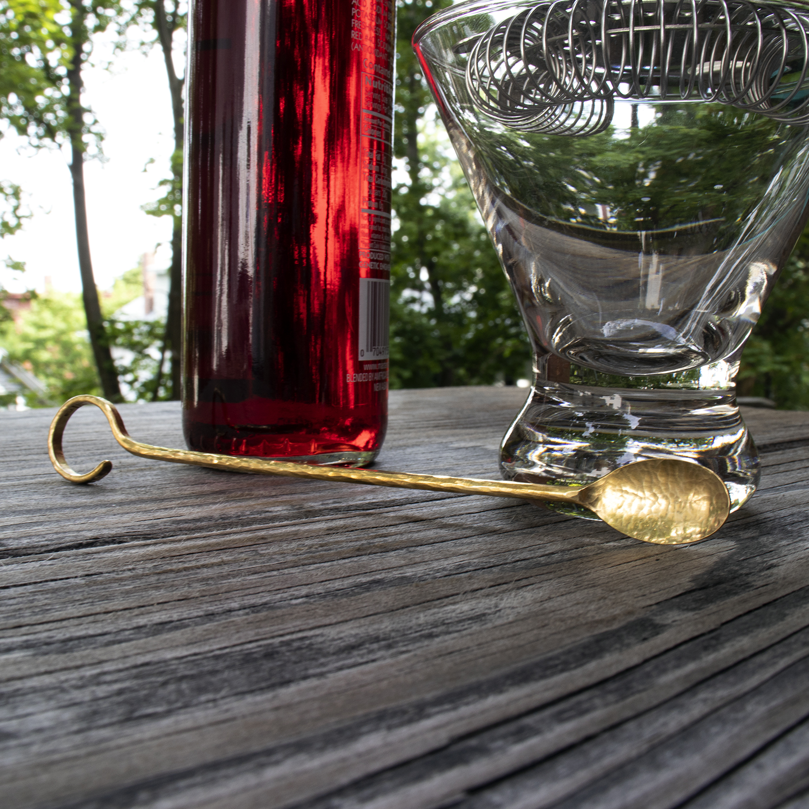 Brass Loop Cocktail Stirrer