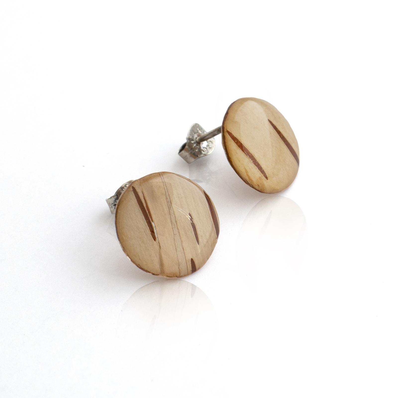 Birch Bark Studs - Round