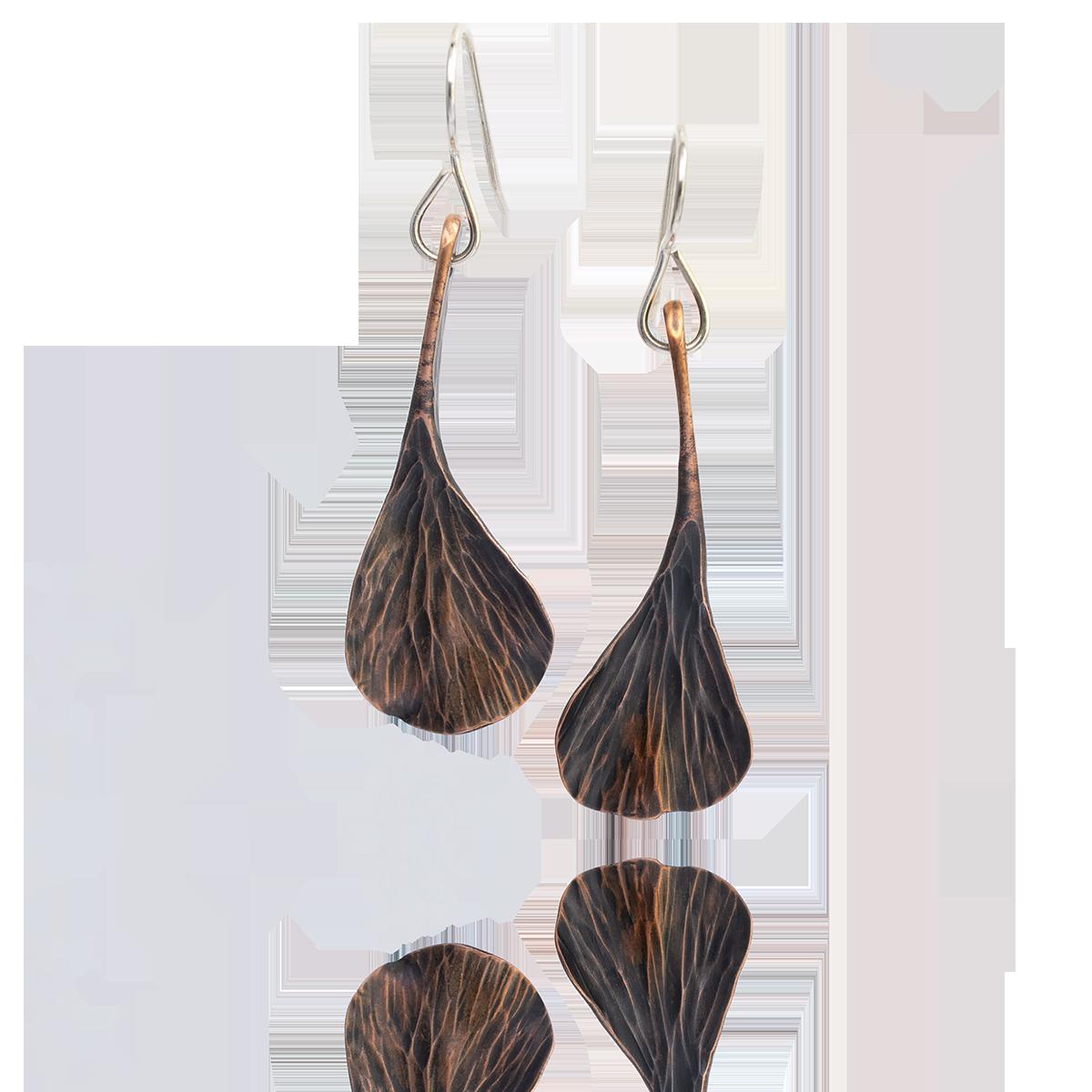 Gingko Leaf Dangles Copper