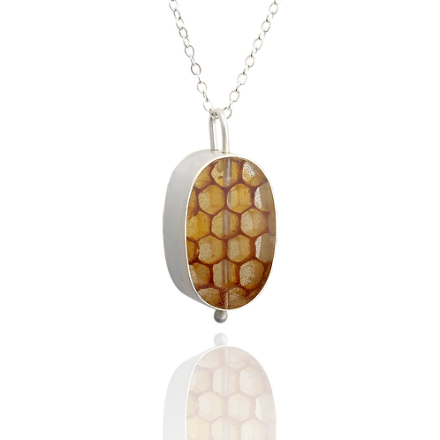 Real Honeycomb Pendant - Oval