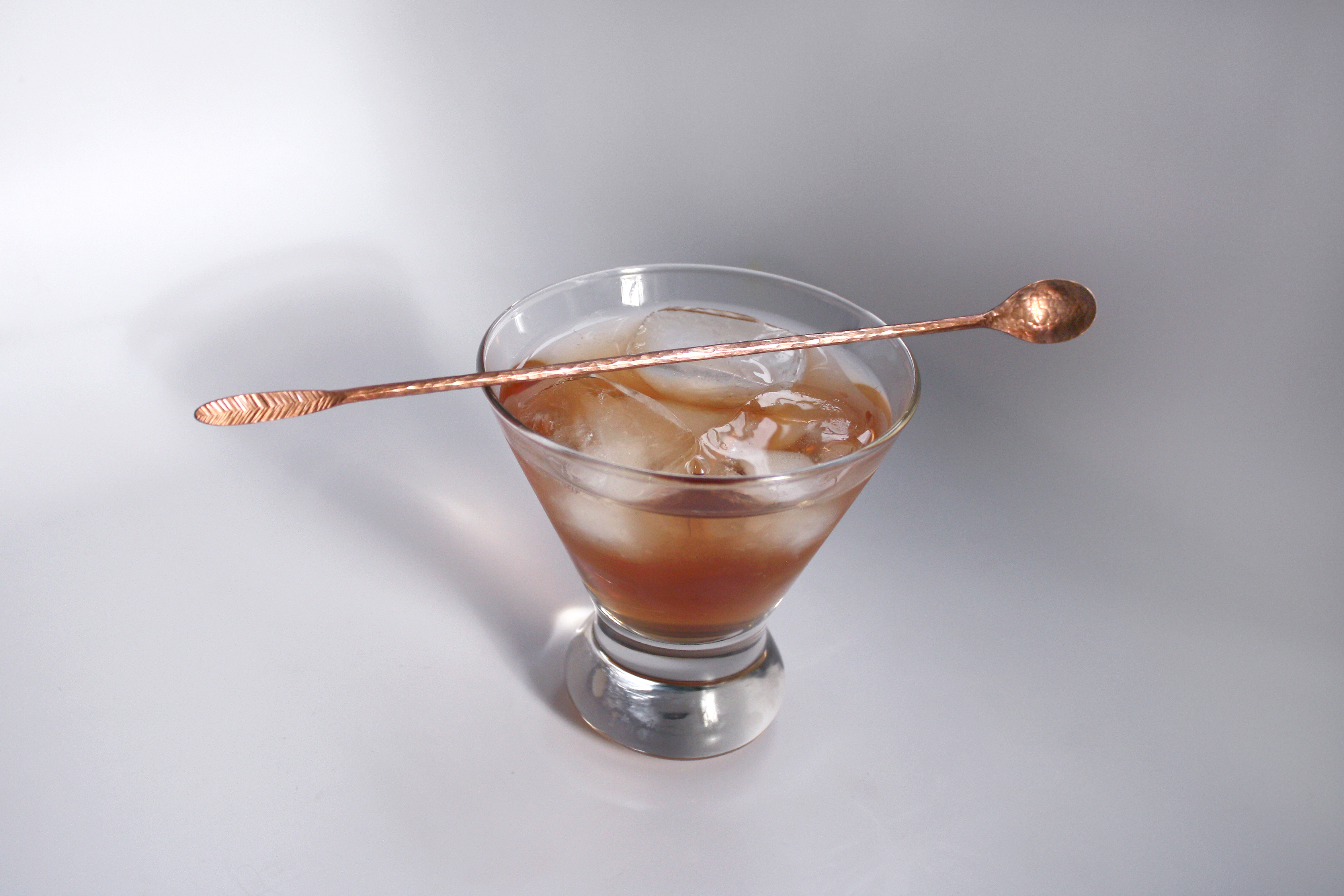 Cocktail Stirrer in glass - copper 3