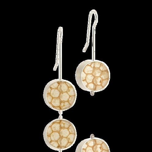 Real Honeycomb Earrings