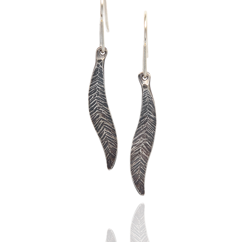 Forged Feather Dangles