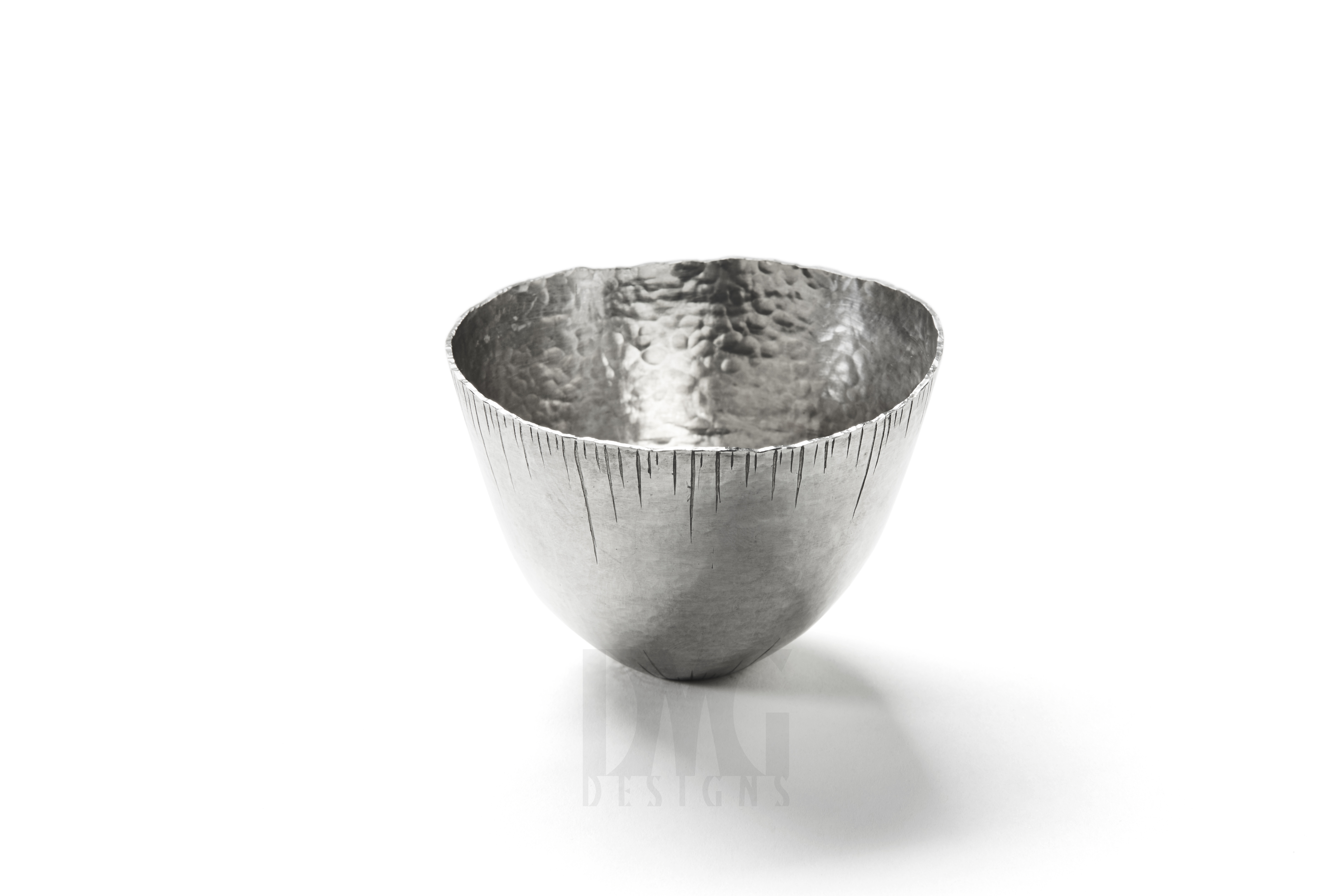 Silver Tumbler with Engraved Icicles 1