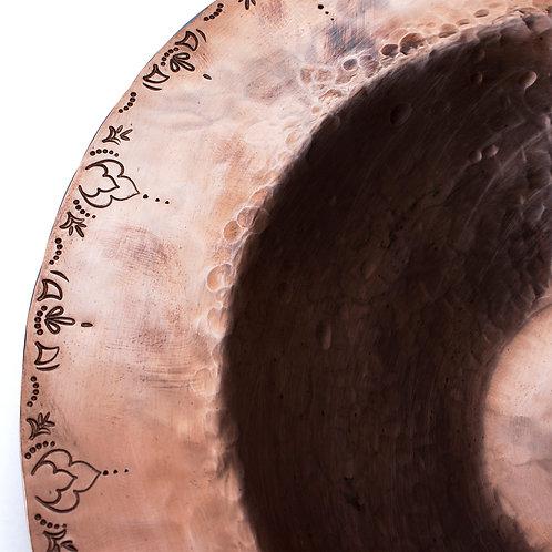 """Stamped Rim Dish - 7.75"""" Copper"""