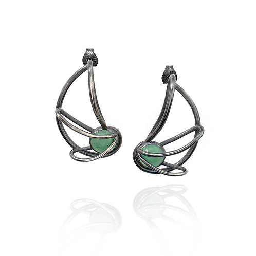 Nautilus Earrings - Aventurine