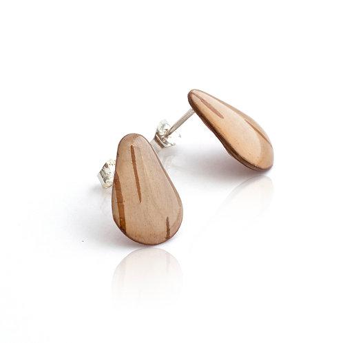 Birch Bark Stud Earrings