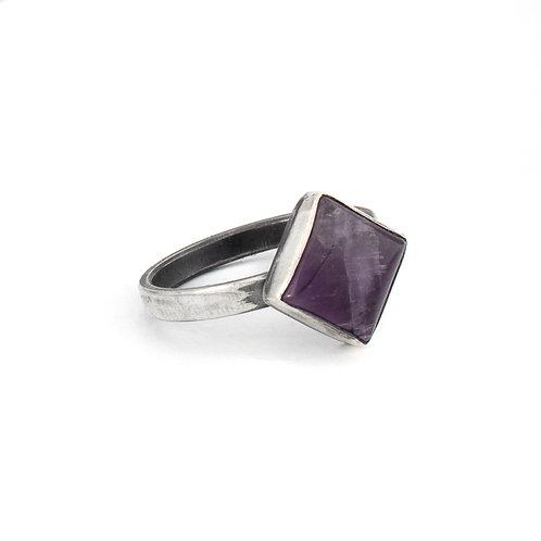Square Amethyst Ring