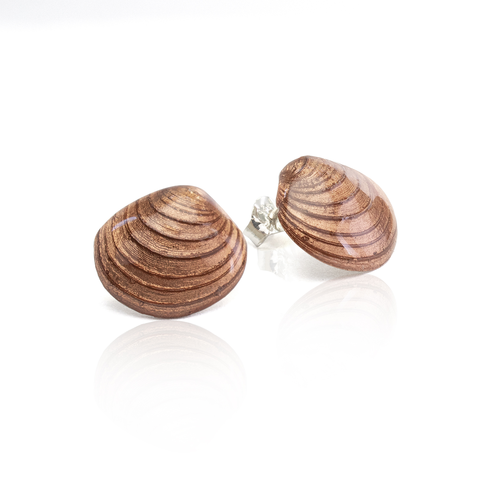 Clam Studs - Copper