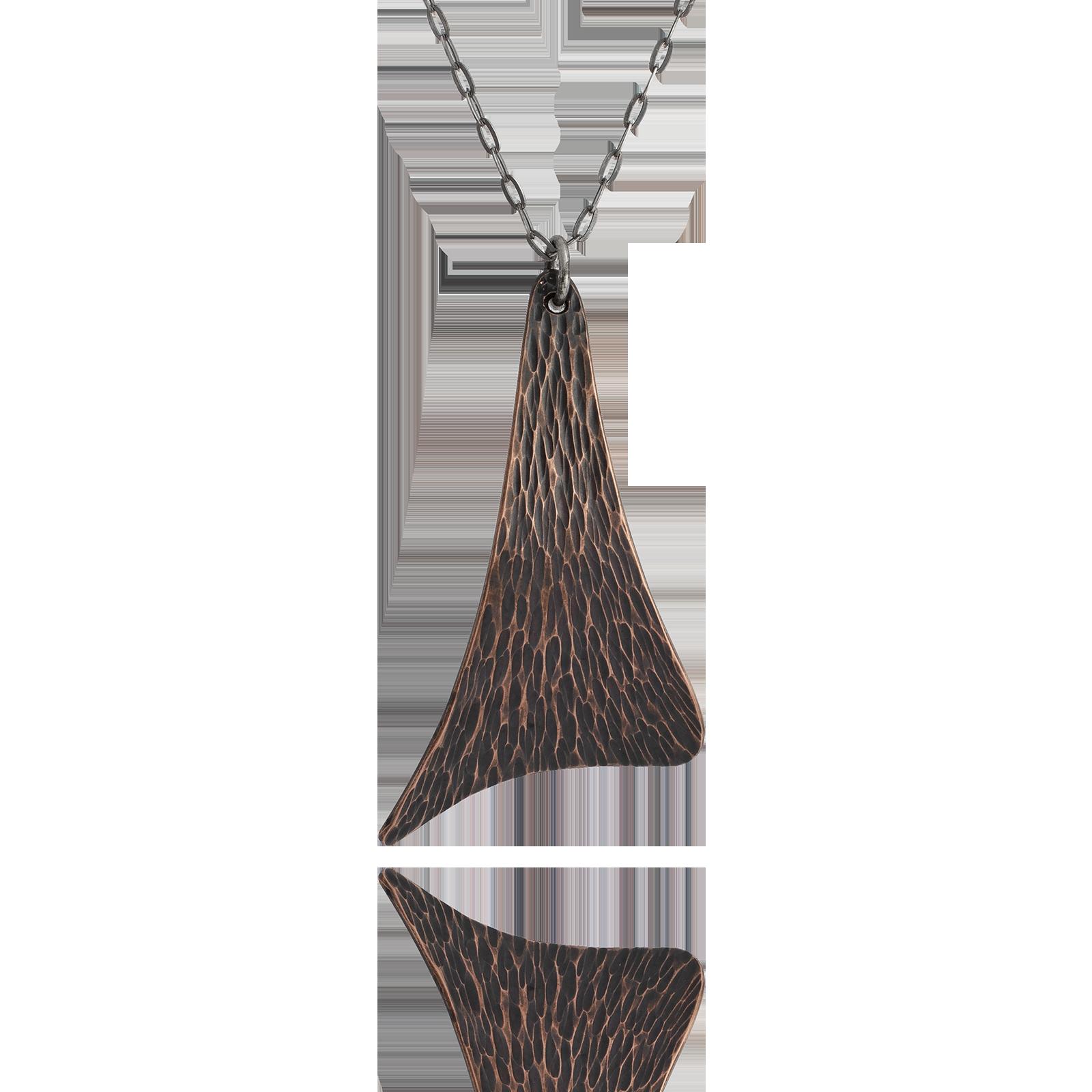 Sail Pendant - Dark Copper