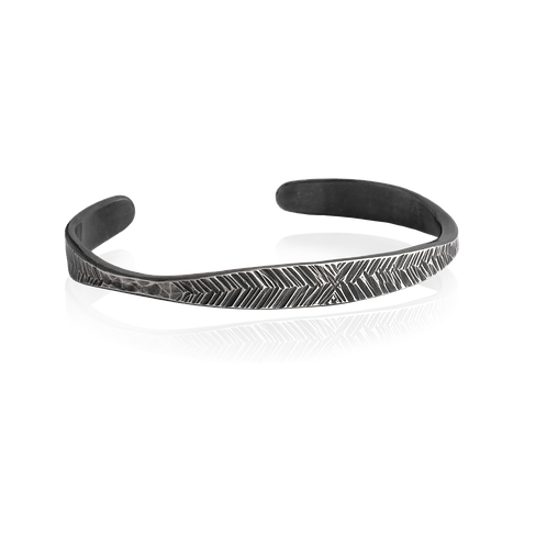 Forged Feather Cuff Bracelet