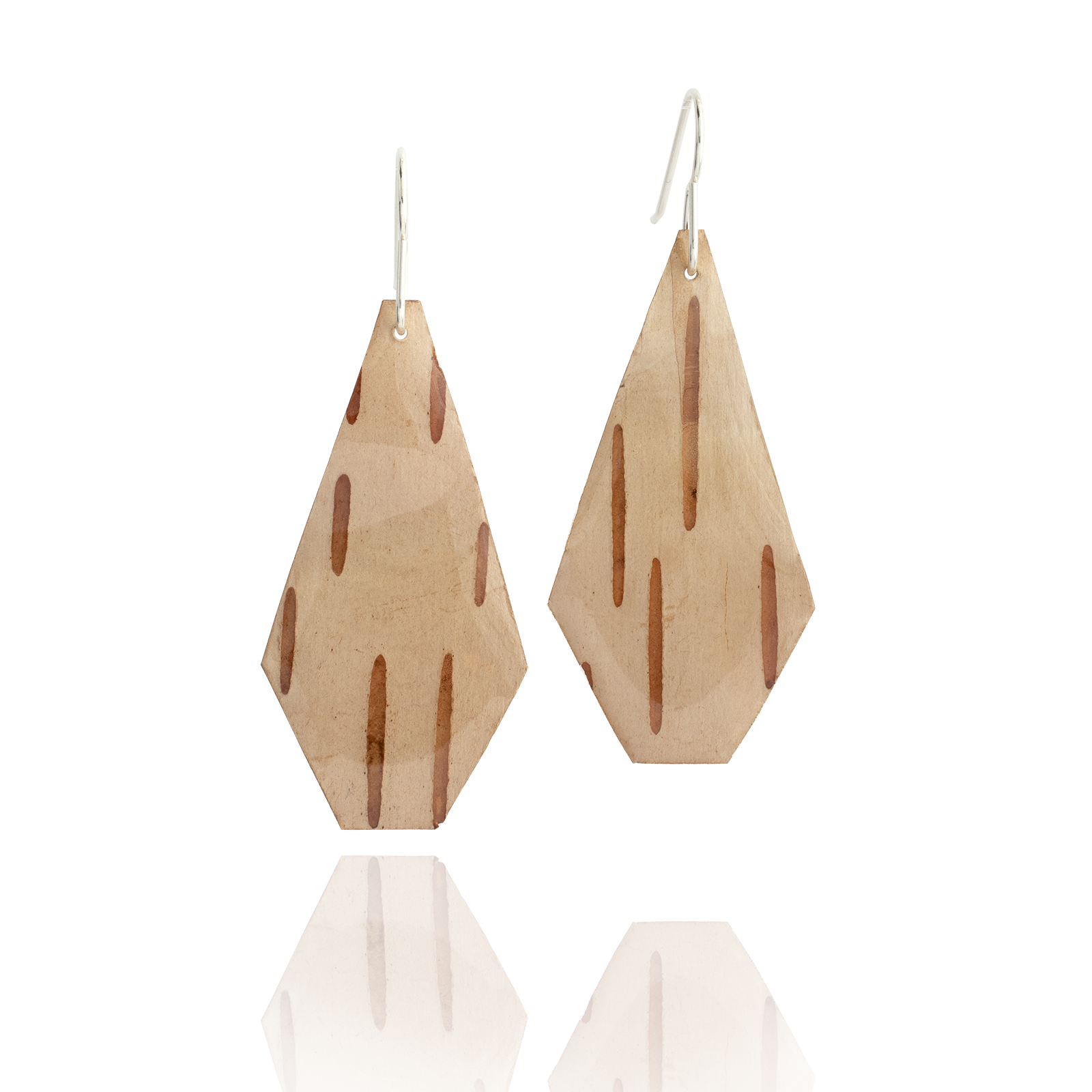 Birch Bark Dangles - Pentagon