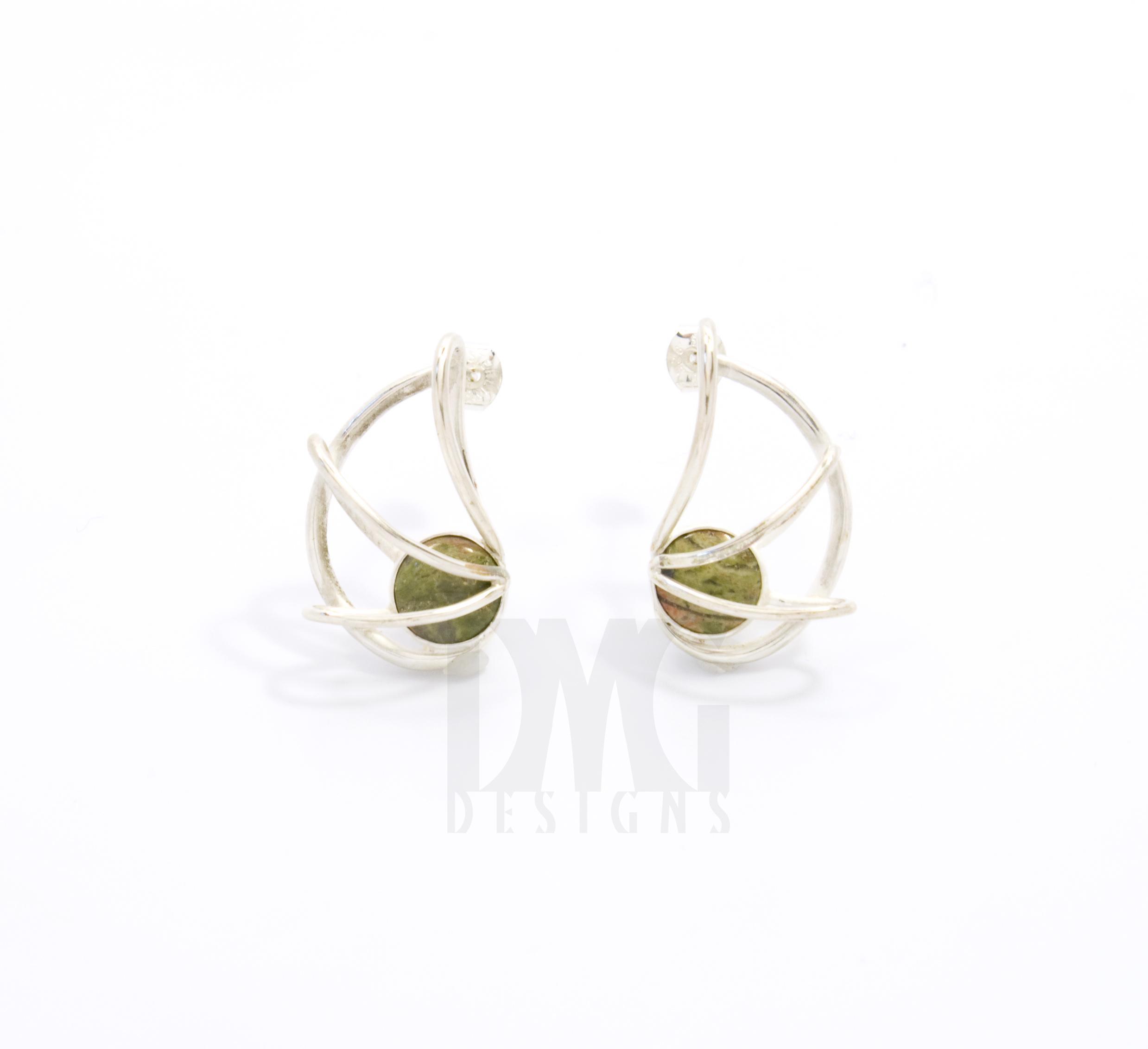 Unakite Nautilus Earrings
