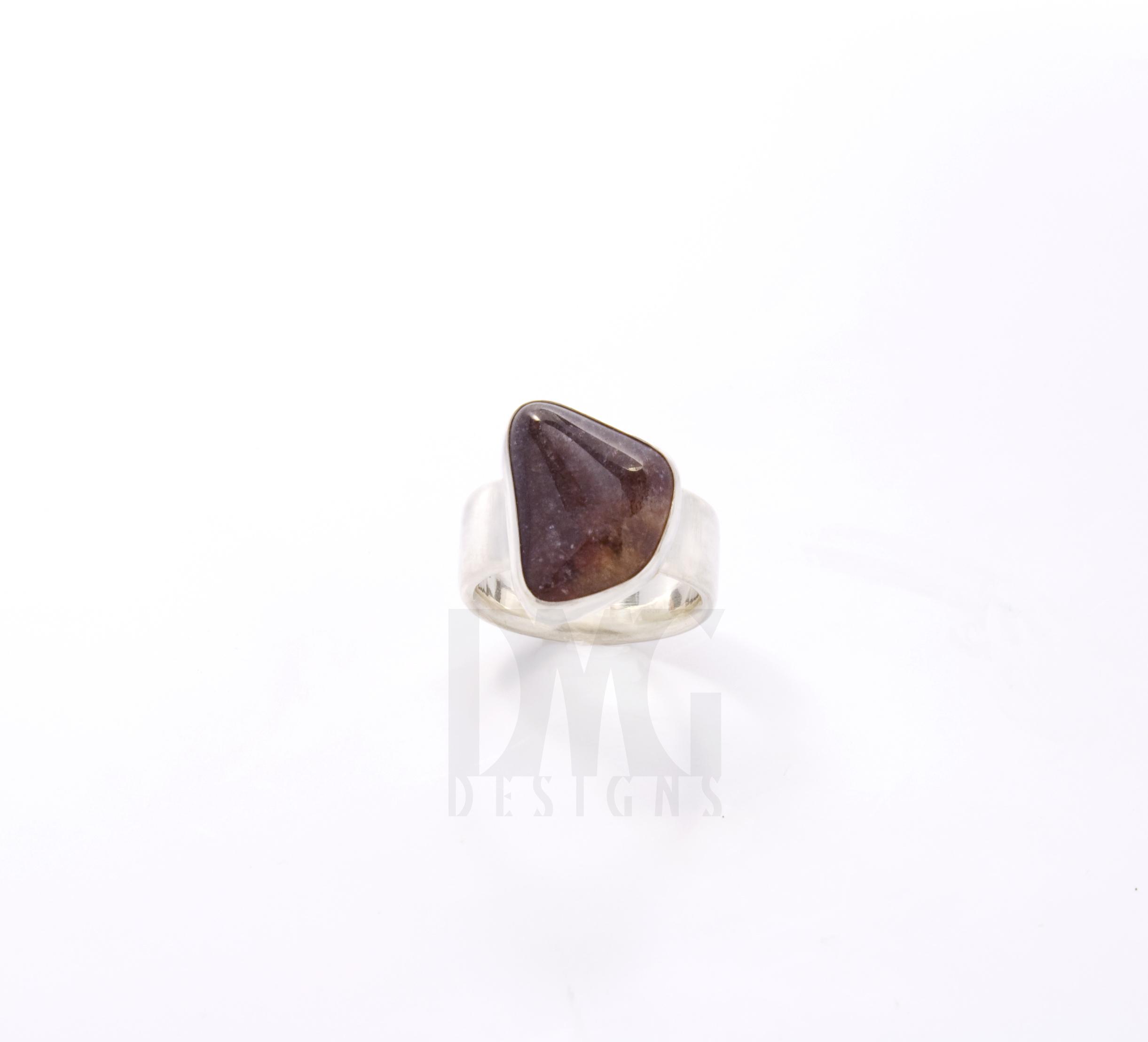 Amethyst Wide Ring