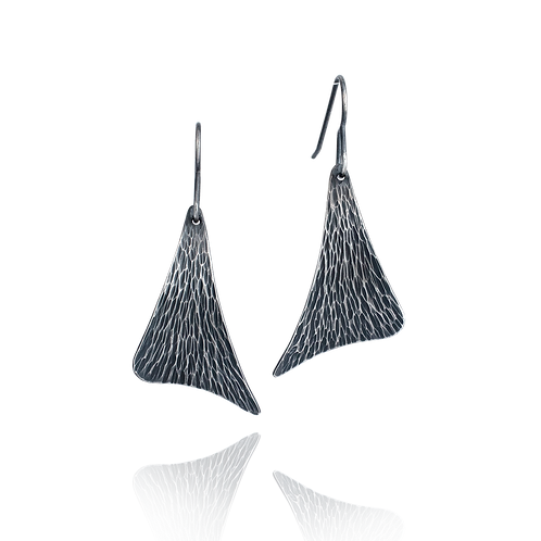 Forged Sail Dangle Earrings