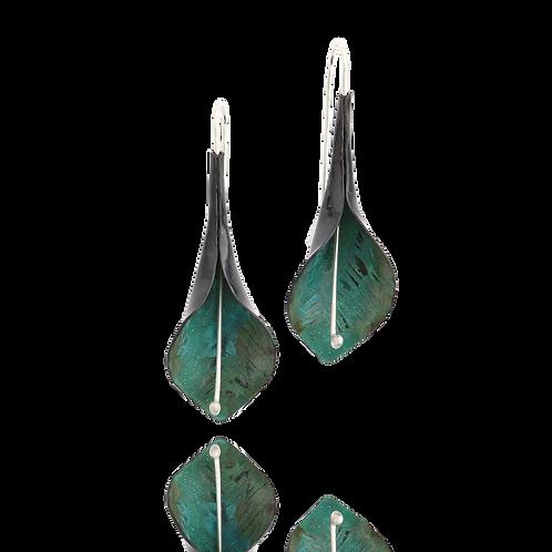 Peace Lily Dangles - Green Copper