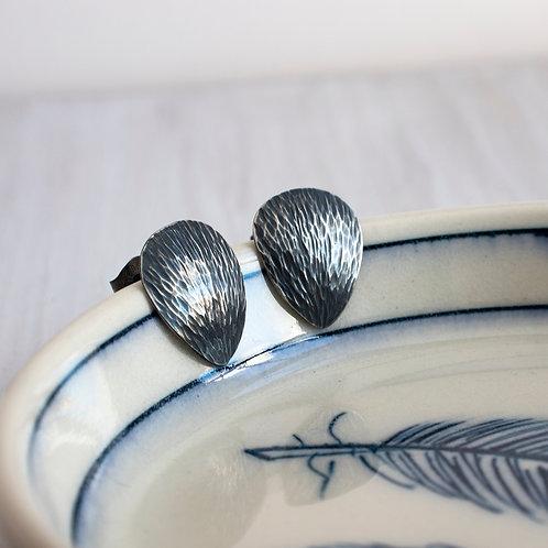 Scale Stud Earrings Sterling Silver