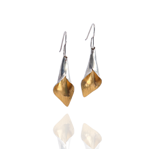 Hidden Gold Calla Lily Dangles