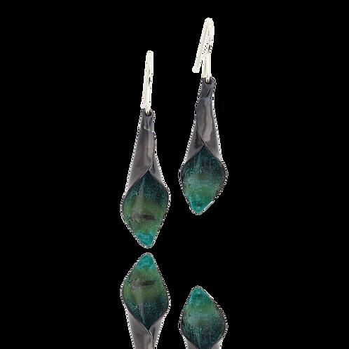 Green Calla Lily Earrings
