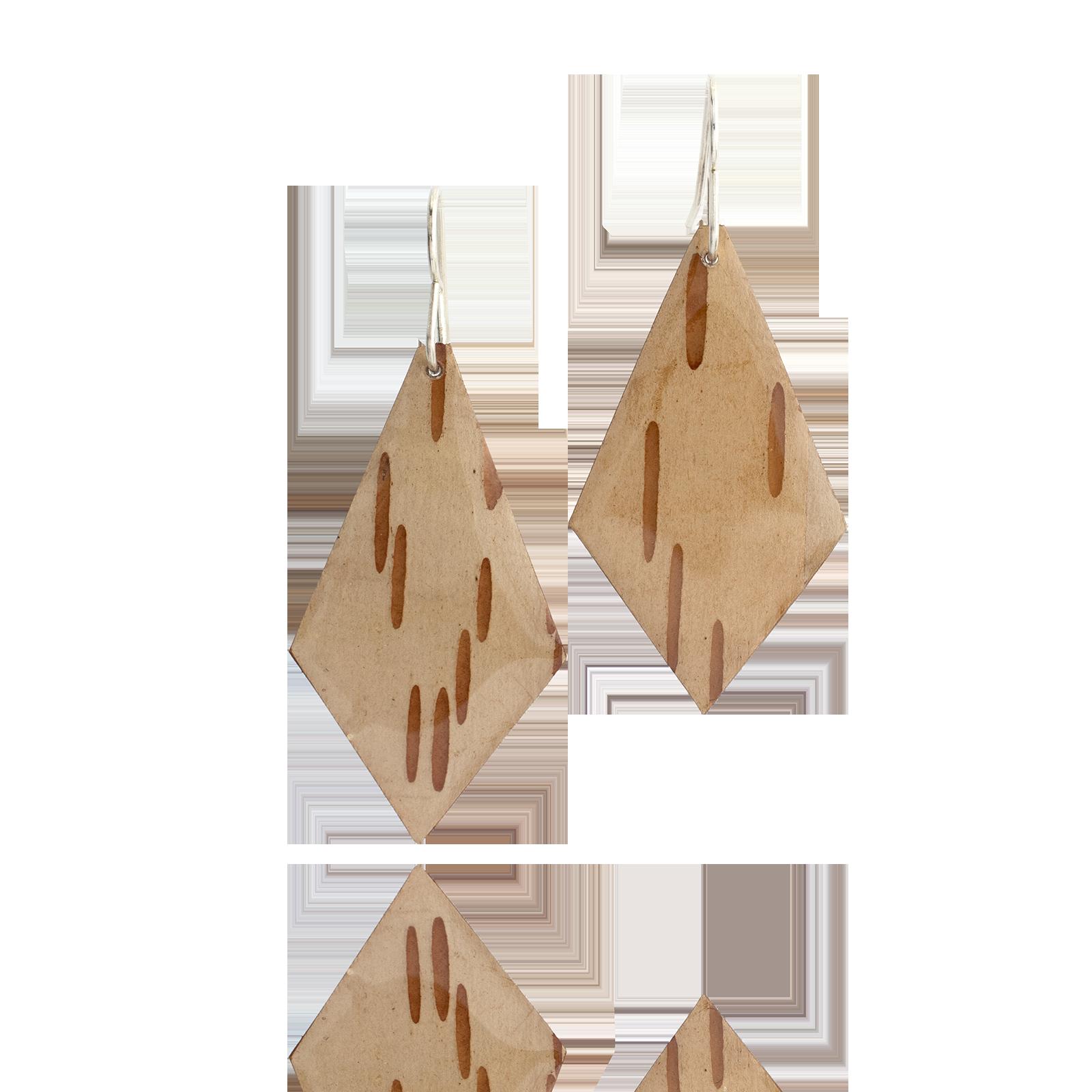 Birch Bark Dangles - Diamond