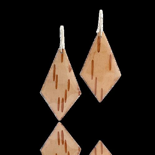 Birch Bark Dangle Earrings