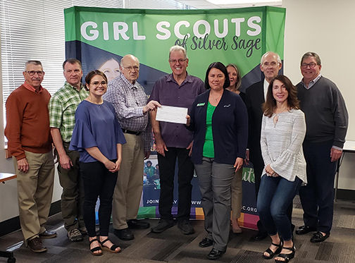 Presenting check to Girl Scouts.jpg