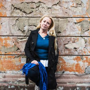 Reportagebild Erika Oldberg, författare och journalist