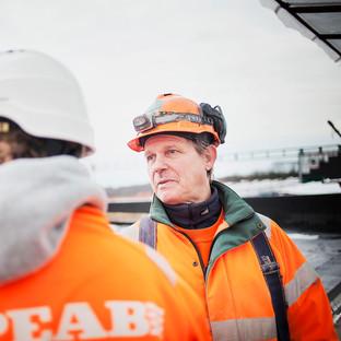 Foto från pågående byggnation åt Helsingborgs Hem