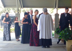 Guests arrive for Weekday Wedding