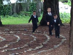 Wedding Party fun in Labyrinth!