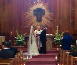 Small weekday wedding in chapel