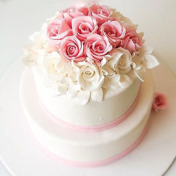 Here we have a Wedding cake that's simpl