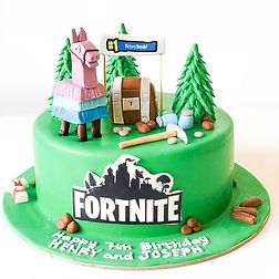 A Fortnite cake and we totally know why