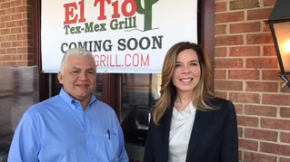 Owner Armando Mejia speaks to Diana Shipley of Saul Centers